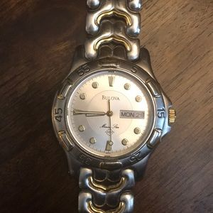 Bulova Marine Star Watch Silver/Gold